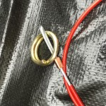 Split ring type breakaway cable