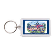 """Feeling stressed…"" keyring"